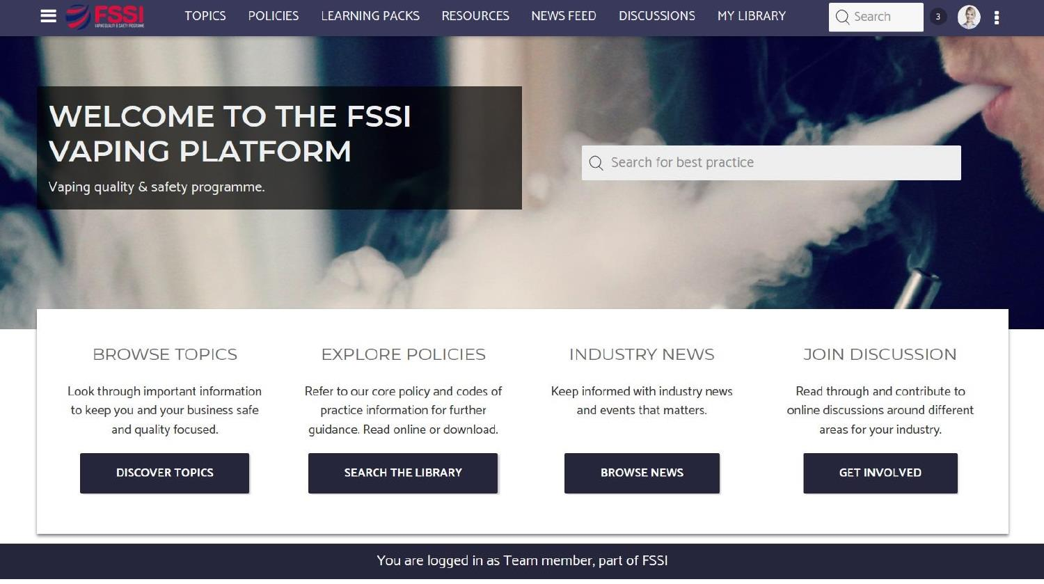 Description: FSSI Vaping site